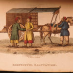 1812 1ed Breton CHINA Color Illustrated Asia Tartary Chinese Costumes Clothing