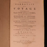 1784 RARE Narrative of Captain James Cook & Clerke Third Voyage Hawaii Alaska
