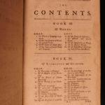 1760 John LOCKE Essay Concerning Human Understanding Philosophy Tabula Rasa 2v