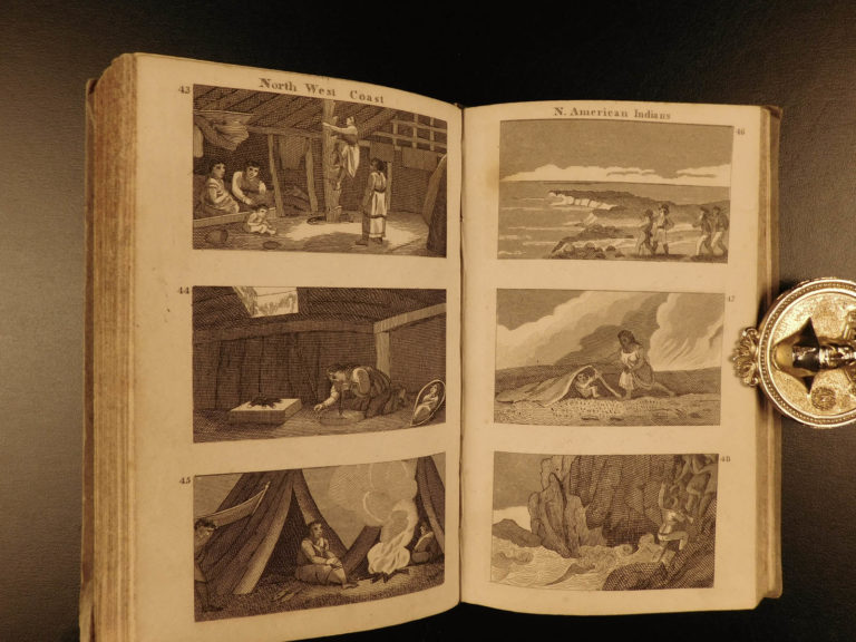 Image of 1825 1ed America Scenes Columbus Cortes Native American Indians MAP Lewis Clark