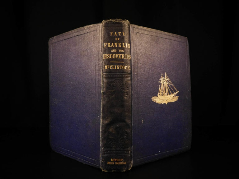 Image of 1859 1ed McLintock Voyage in Arctic Seas Narrative John Franklin Expedition MAPS