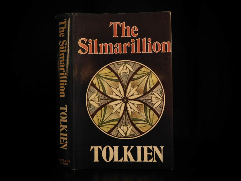 Image of 1977 1st ed Silmarillion UK JRR Tolkien Lord of the Rings Middle Earth + MAP DJ