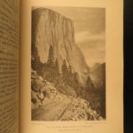 1886 1ed Heart of the Sierras Yosemite National Park Map CALIFORNIA Illustrated
