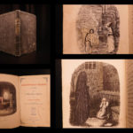 1844 1st US ed RARE The Christmas Carol by Charles Dickens Scrooge Illustrated