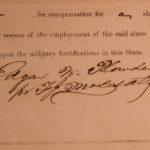 1863 SLAVE Receipt sold to Confederate Army Slavery South Carolina Civil War
