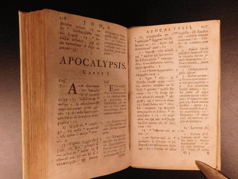 Image of 1688 Greek & Latin New Testament BIBLE Calvinism Hebraica