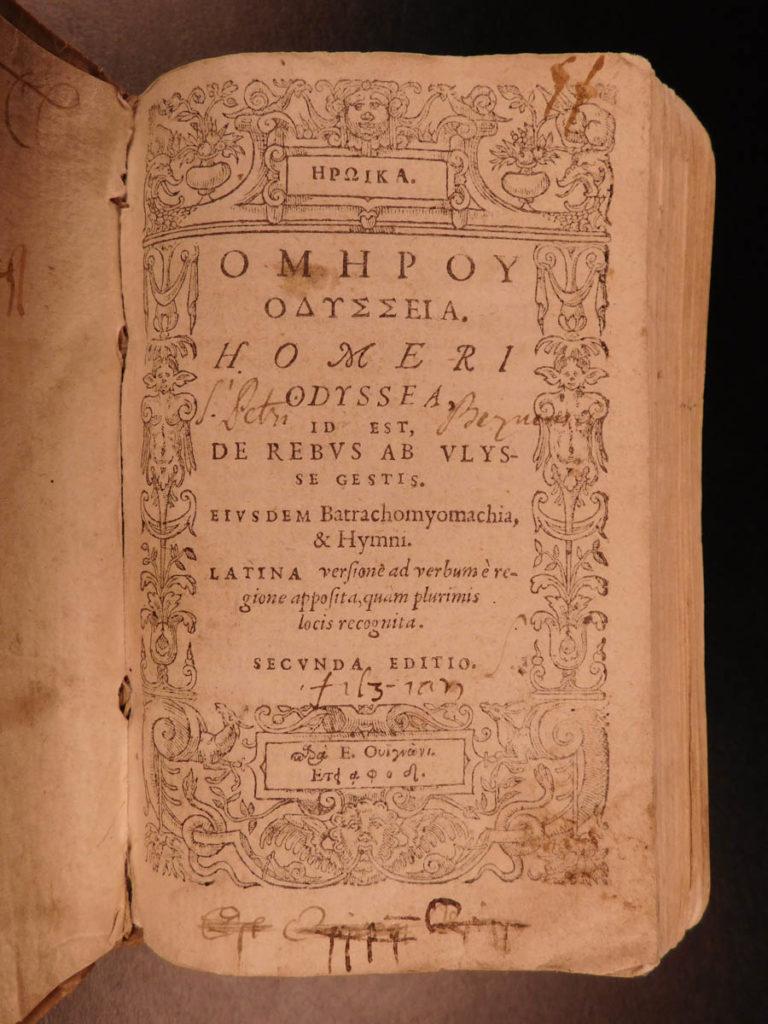 Image of 1574 The ODYSSEY Homer Greek Mythology Trojan War Geneva Vignon Portus & Crespin
