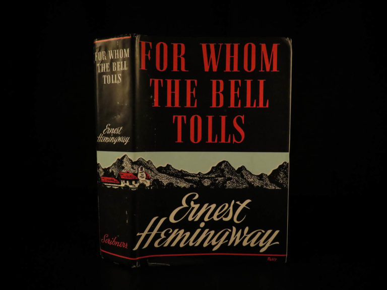 Image of 1940 1st ed For Whom the Bell Tolls Ernest Hemingway American War Novel Classic