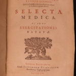 1656 Linden Selecta Medica DUTCH Medicine Cures Anatomy Latin Greek Elzevier