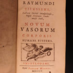 1669 Cardiology Lower Tractatus Corde Blood Transfusion MEDICINE + 1ed Vieussens