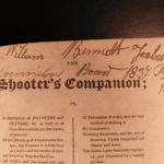 1823 Shooter's Companion HUNTING Guns Gunpowder Dogs Johnson RARE Shooting
