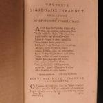 1788 EXQUISITE Tragedies of SOPHOCLES Greek & Latin Plays Mythology Oedipus 2v