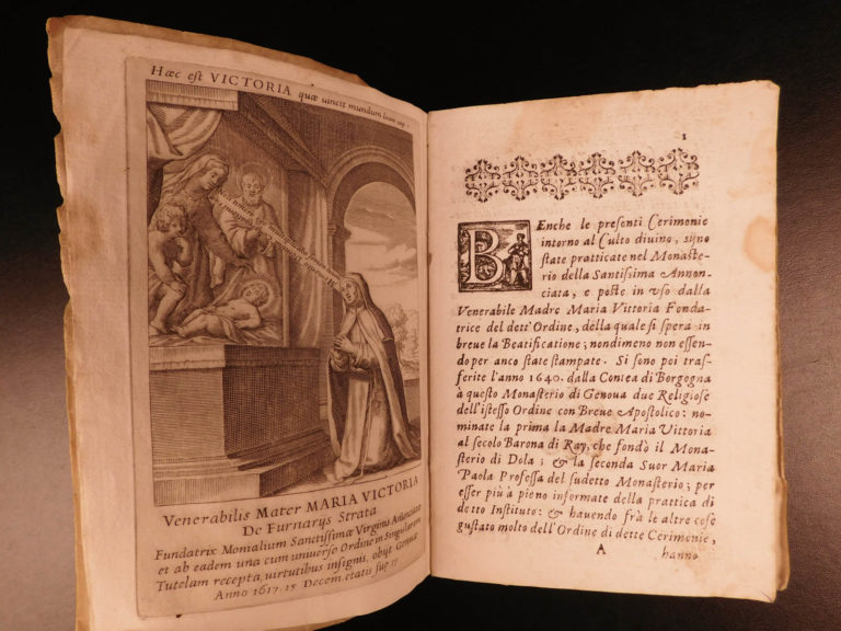 Image of 1640 1ed Catholic Orders Rituals of Most Holy Annunciation NUNS Prayer Monastics