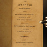 1815 1ed Machiavelli ART of WAR American Rev Military Robert Fulton Torpedo