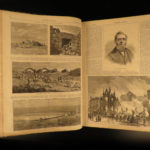 1873 Harper's Weekly PT Barnum Napoleon III CHINA Yellowstone Illustrated HUGE