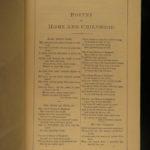 1879 EXQUISITE BINDING Fireside Poetry Longfellow Wordsworth Walter Scott Poems