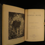 1895 1ed The Jungle Books Rudyard Kipling Children's INDIA Mowgli Illustrated 2v