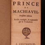 1694 Machiavelli PRINCE Italian Renaissance Philosophy Politics French Amelot