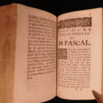 1694 Blaise Pascal PENSEES Christian Apologetic Pascal's Wager French Philosophy