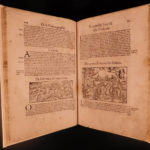 1575 Cosmographia Munster Fragment Punic Wars Milan Woodcuts ROME Nero BIZARRE