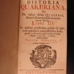 1696 Historia Quakeriana EARLY AMERICA Dutch Croese Quakers William Penn Sewel