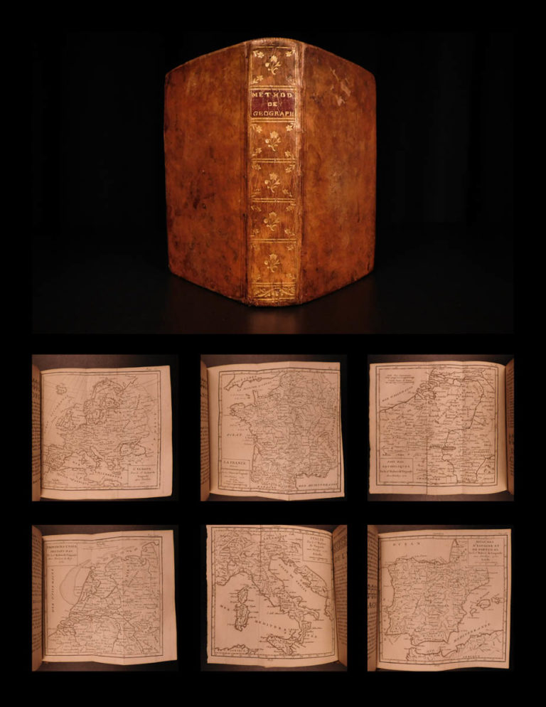 Image of 1751 VOYAGES 17 ATLAS Vaugondy Maps Geography Asia Africa Europe USA
