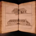 1768 Diderot Encyclopedia Plates HUGE FOLIO Medicine Architecture Vesuvius Art