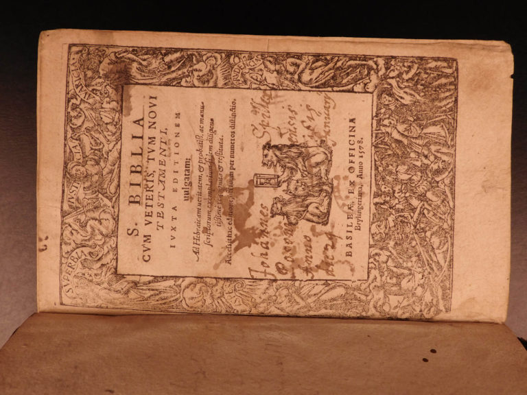 Image of 1578 Vulgate Latin Holy BIBLE Biblia Swiss Brylinger Old/New Testament Basel