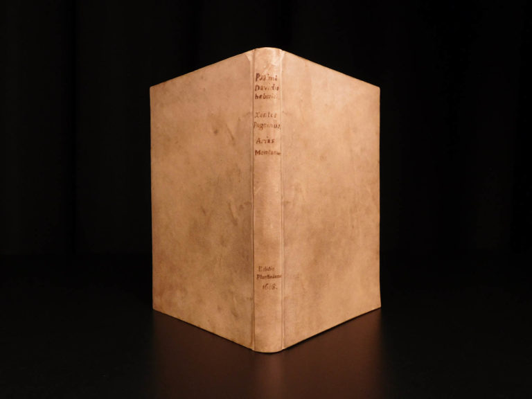 Image of 1608 1ed BIBLE Psalms of David Hebrew Latin Plantin Polyglot Pagnino & Montano