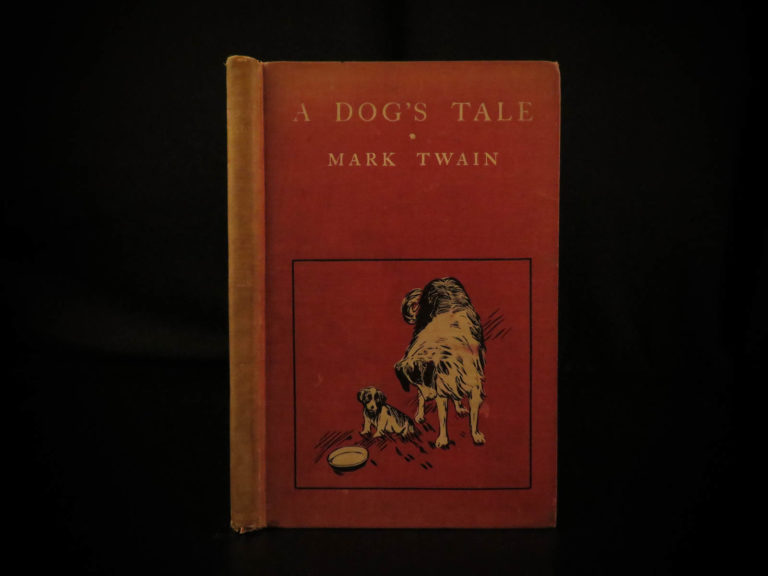 Image of 1904 1st ed A Dog's Tale by Mark Twain Humor Puppies St Bernard Collie