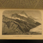 1862 Alpine Voyages Peaks Passes & Glaciers by Kennedy Mountaineering Maps Alps