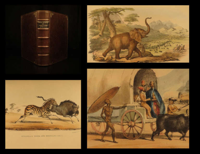 Image of 1852 Wild Sports of Southern Africa Harris Big Game Hunting Illustrated Binding