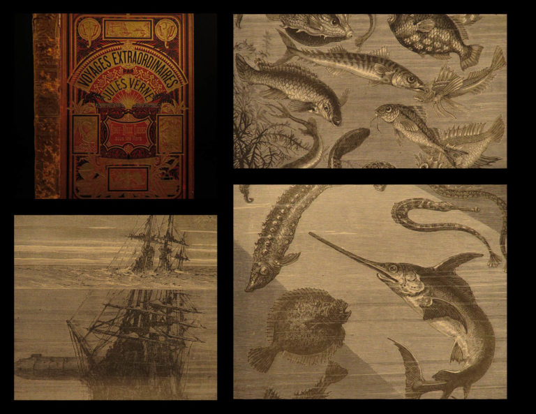 Image of 1877 Jules VERNE 20,000 Leagues Under the Sea French Illustrated Sci-Fi CLASSIC