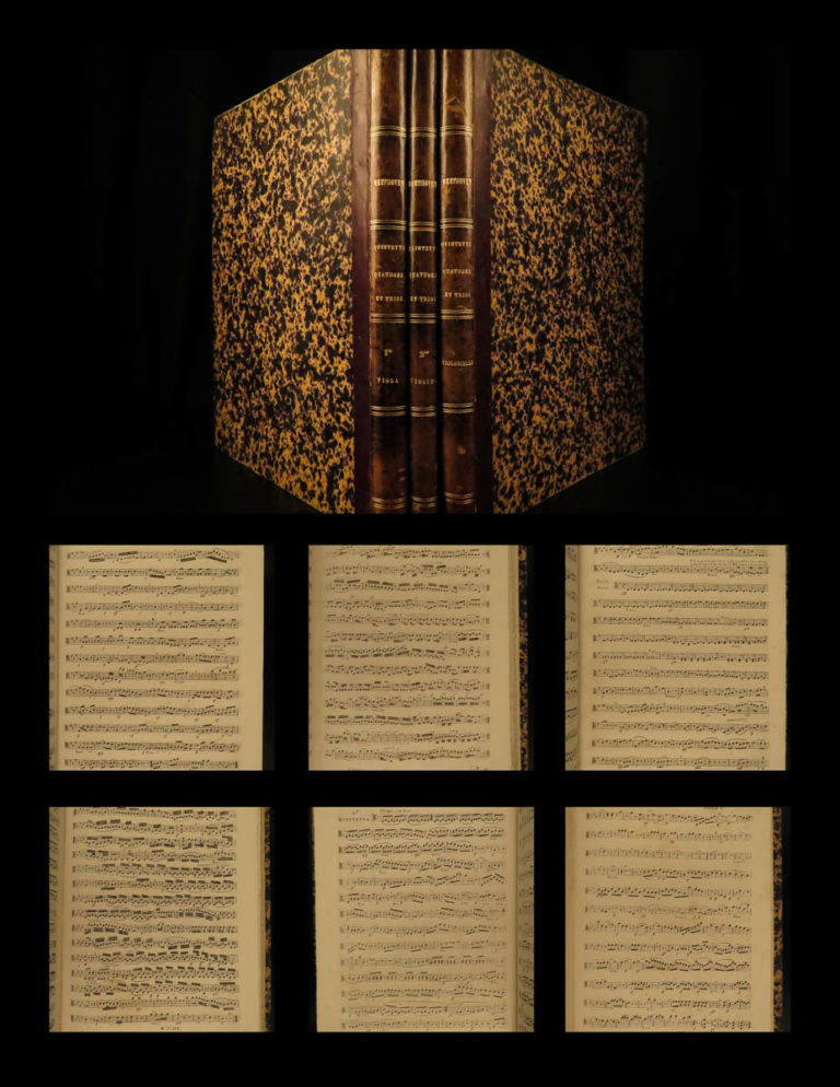 Image of 1836 Music of Beethoven String Quartet Violin Cello SCORES Classical Schlesinger