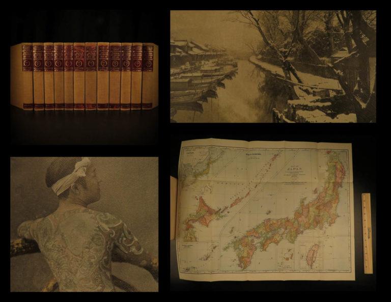 Image of 1901 Oriental Series Japan China History Art Illustrated Brinkley Limited ed 12v