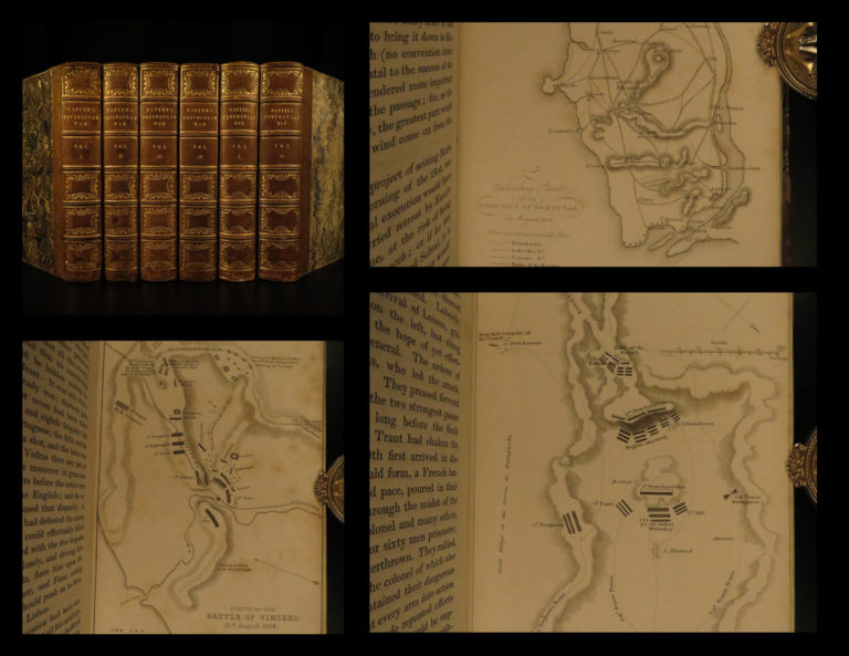 Image of 1828 1ed History of Peninsular WAR South France MAPS Napier Illustrated SET