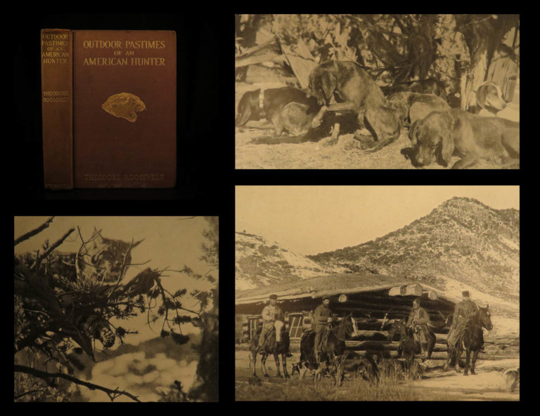 Image of 1905 1ed Theodore Roosevelt Outdoor Pastimes of American Hunter Big Game Hunting
