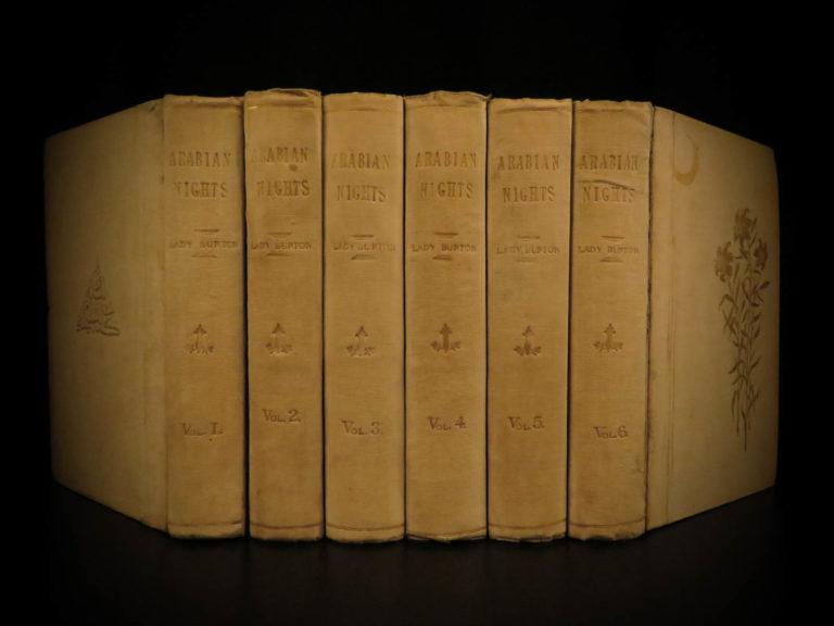 Image of 1886 Arabian Nights 1001 Entertainments Sinbad Illustrated Lady Burton ed Erotic
