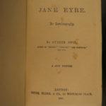 1891 Jane Eyre Charlotte Bronte Gothic Feminism Currer Bell CLASSIC Novel