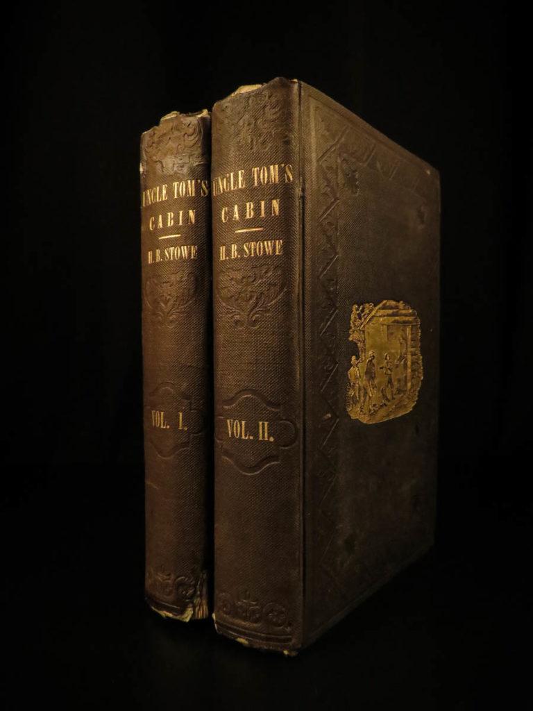 Image of 1852 1st ed Uncle Tom's Cabin Beecher Stowe Slavery Abolition Civil War 2v Set