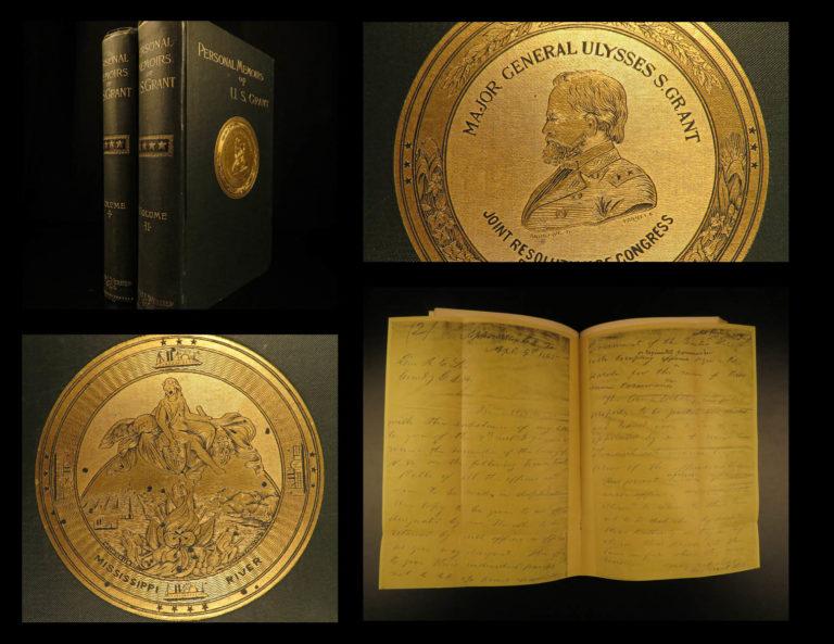 Image of 1885 1ed Civil War Memoirs General Ulysses Grant Illustrated MAPS BEAUTIFUL Set