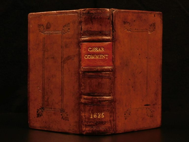 Image of 1635 1ed Julius Caesar WAR Commentaries Scaliger Military Maps BEST of ELZEVIER