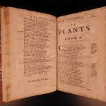 1689 FOLIO 1ed Abraham Cowley Six Books of Plants Herbs Coca Flowers English
