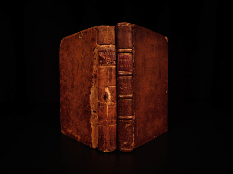 Image of 1796 Works of Benjamin Franklin Autobiography Way to Wealth Politics Essays Life