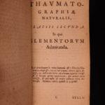 1632 1ed Jonston Thaumatographia Naturalis Zoology UNICORNS Giants Meteorology
