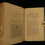 1825 Studies of CHESS Philidor & Pratt Strategy Rules Instruction Games Diagrams