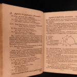 1706 Adrian Vlacq Sinuum & Logarithms Dutch Mathematics Trigonometry Tables RARE
