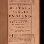 1688 Camden Queen Elizabeth James I Britain Scotland FOLIO Annals of England