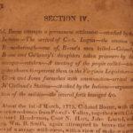 1827 1ed Stipp Western Miscellany Daniel BOONE Wabash Indians Logan's Raid