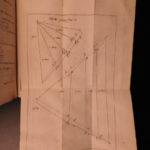 1757 1ed Art of Land Measuring English Engineering Surveying Mathematics Gray